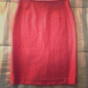 H&M high waisted coral pink skirt